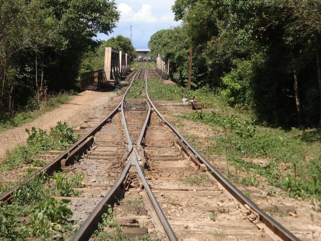 Figura 13: Ponte do Tronco Principal Sul sobre o rio Negro, e AMV do triângulo de interligação com a Ferrovia São Francisco. Posição [6] no quadro sinótico.