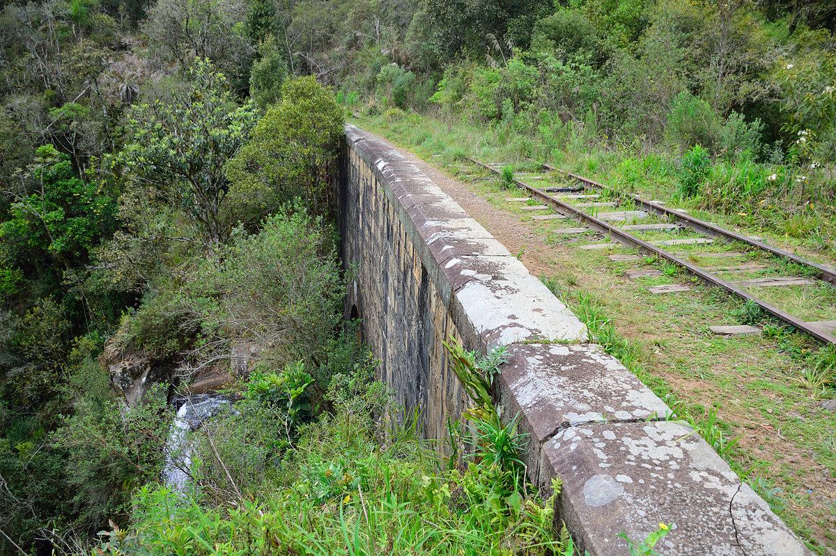 Figura 9: Ferrovia e cachoeira do km 13 (Set/2015)